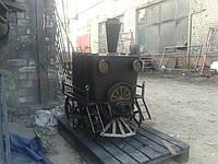 Печь булерьян отопительно-варочная для дома паровоз тип 01 с гарантией 230 м3