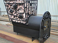 Печь булерьян отопительно-варочная для дома buller profi с выносной топкой объем 12-20 м3 без стекла
