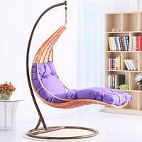 Навесное кресло лежак из ротанга