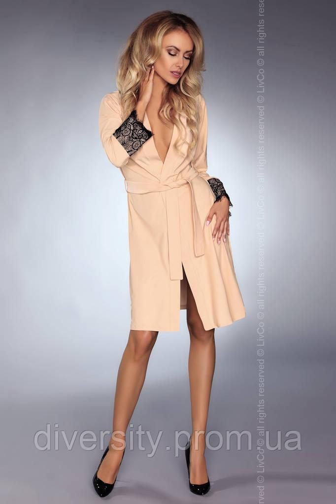 Роскошный халат Daniella Livia Corsetti S/M, молочный