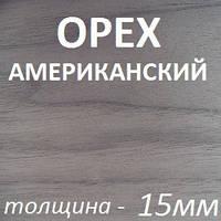 Фанера шпонированная 2500х1250х15мм - Орех Американский (2 стороны)