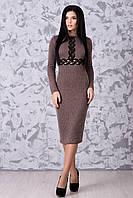 Шикарное женское платье теплое в 2х цветах Стефани