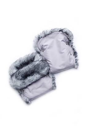 Муфта-рукавички на коляску Серые, фото 2