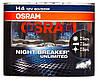 "Автомобильные галогенные лампы ""OSRAM"" (H4)(12V)(60/55W)(Night Breaker Unlimited)(+110%)"