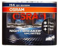 "Автомобильные галогенные лампы ""OSRAM"" (H4)(12V)(60/55W)(Night Breaker Unlimited)(+110%), фото 1"