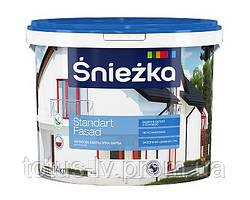 Краска акриловая эмульсионная для фасадов ŚNIEŻKA Стандарт Фасад