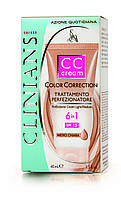 Clinians Color Correction Маскирующее средство 6в1 CC Cream SPF 15, Тон темный