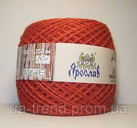 Нитки для вязания шерсть мериноса 100г красного цвета