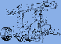 151.46.222-1 Кронштейн рычага управл. стояночным тормозом Т-150К, Т-156 (пр-во ХТЗ)