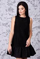 Нарядное женское платье черное мини Лика