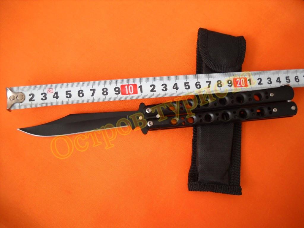 Нож бабочка OT103B с клипсой чехол