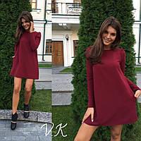Женское свободное мини-платье