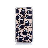 """Жесткий силиконовый чехол с бегающими глазами """"Коты"""" для Iphone 7 и Iphone 8, фото 1"""