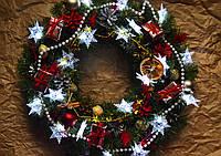 """Новогодний и рождественский венок """"Шикарные снежинки"""", фото 1"""