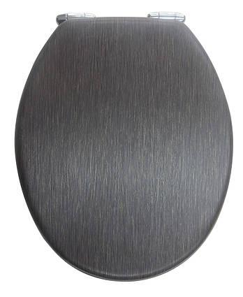 Кришка для унітазу темно коричнева з мікроліфтом Venge AWD02181098