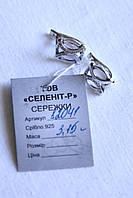 Серебряные серьги с цирконами  925 пробы