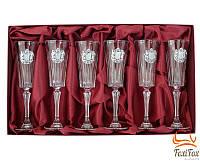 Хрустальные бокалы для шампанского Suggest