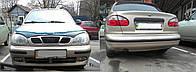 Защита переднего и заднего бампера Daewoo Lanos, Sens резина Ланос, Сенс