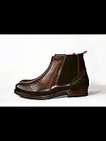 Мужские коричневые утепленные кожаные ботинки Dockers 40-47