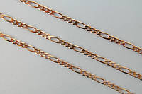 Мужская серебряная цепочка  с позолотой 585 пробы