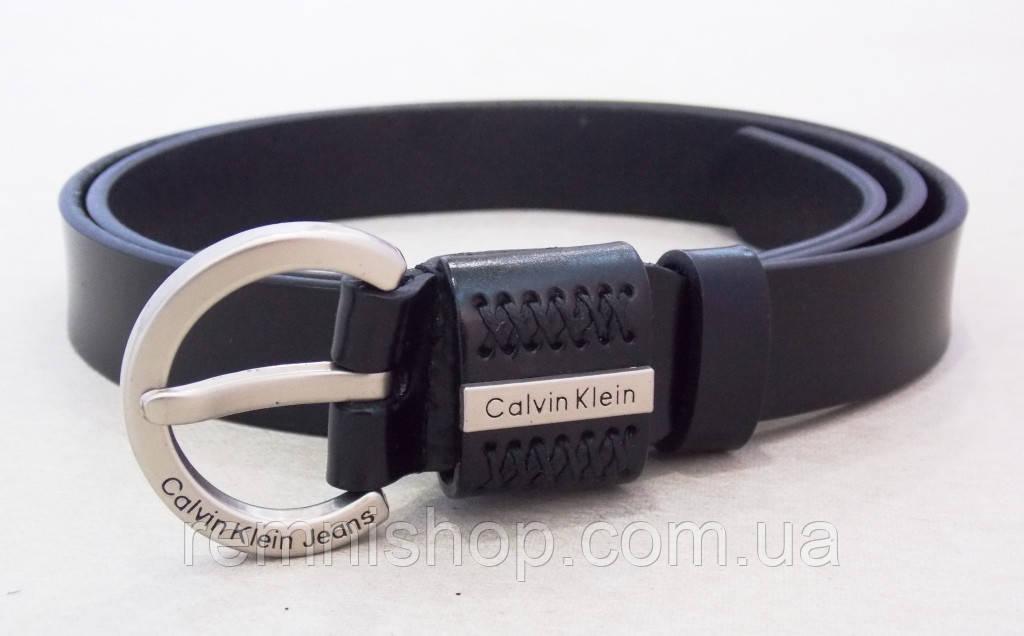 Узкий ремень кожаный Calvin Klein Jeans женский