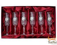 Набор хрустальных бокалов под шампанское Suggest