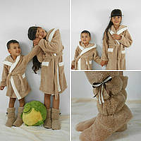 Детский махровый  халат Зайка с ушками