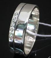 Обручальное женское серебряное кольцо