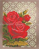 Схема для вышивки Розы в орнаменте