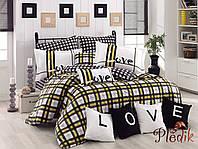 Комплект постельного белья 200х220 HOBBY Poplin Love Code желтый