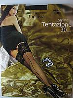 Чулки со швом с широким кружевом LORES TENTAZIONE  20 den