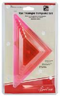 Набор из лекал-треугольников для пэчворка,9 шт,2,2.5,3,3.5,4,4.5,5,5.5,6