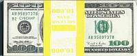 Сувенирные доллары 100. Пачка 80 шт.