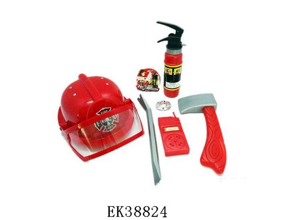 Набор пожарника 9919B, огнетушитель брызгает водой. Тематические игровые наборы., фото 2