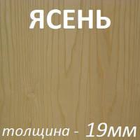 МДФ шпон/бел.ламинат 2800х2070х19мм - Ясень светлый, фото 1