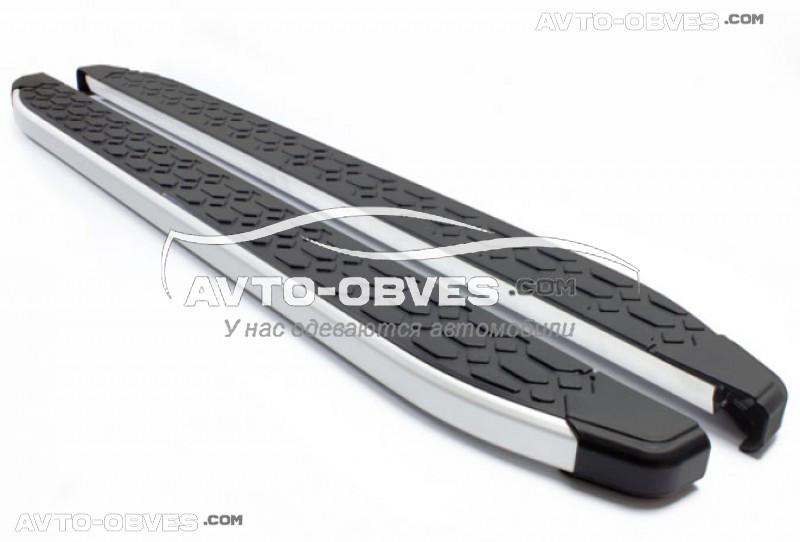 Боковые площадки для Chevrolet Captiva II FL 2012-2020 (в стиле Voyager)