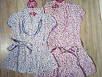 Блуза хлопковая с коротким рукавом для девочки р.4,10 S&D
