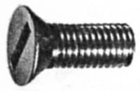 Винт DIN 7969 с потайной головкой с прямым шлицем и шестигранной гайкой.