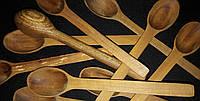 Ложка чайная из дерева (яблоня), длина -15,5 см,12\10 (цена за 1 шт. +2 грн.)