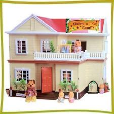 Домики с флоксовыми животными Happy family (аналоги Sylvanian Families)