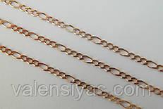Цепочка позолоченная из серебра 925 пробы - плетение Фигаро