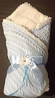 Конверт зимний на выписку для новорожденных на меху Ажур