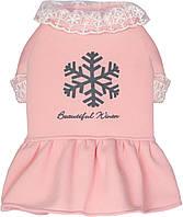 Платье для собак Dobaz Добаз, SNOW GIRL розовый