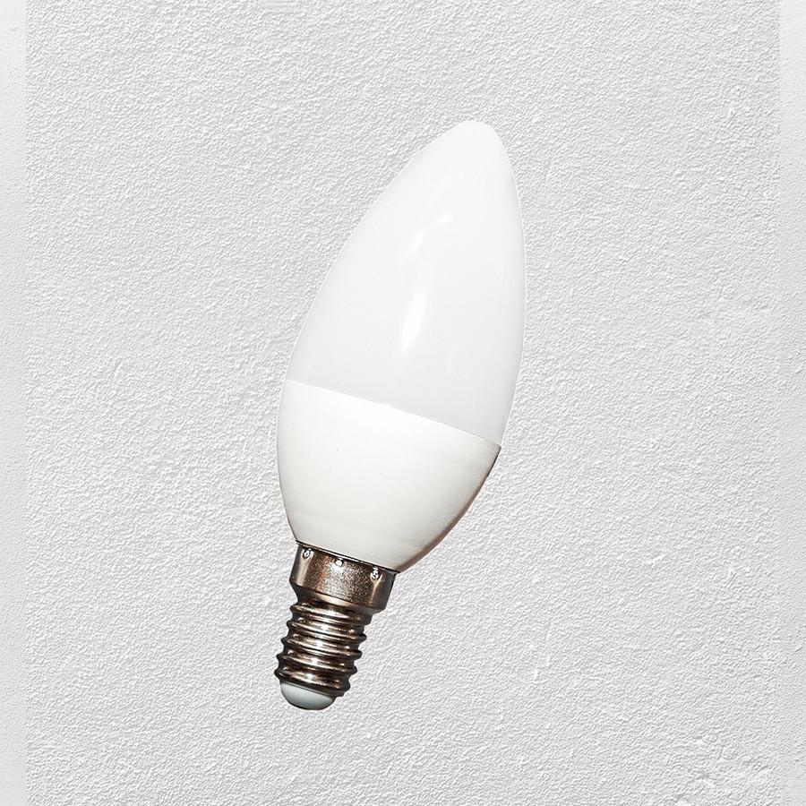 Лампочка  LED  С37 E-14 6W (свечка)