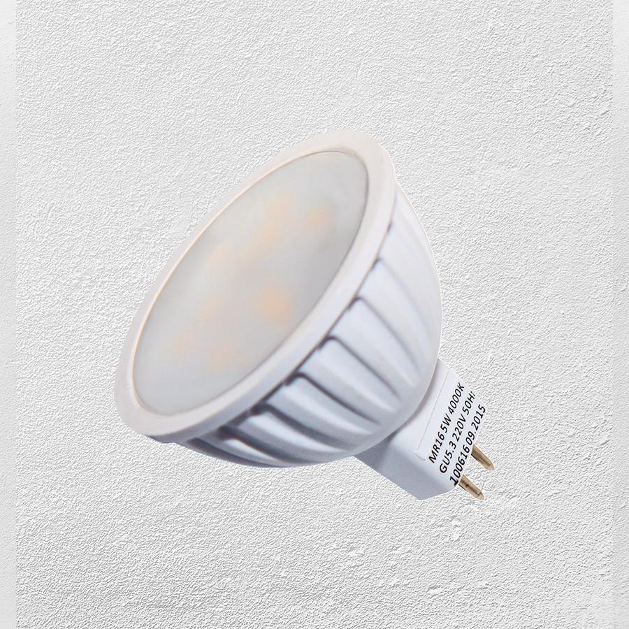 Лампочка  LED MR16 5W 220V нейтральный