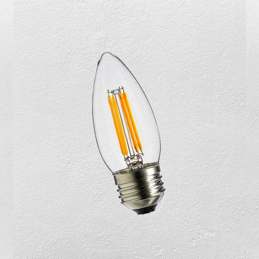 Лампа LED  C35 4W Е-27  ( с сапфировой нитью) 2700К