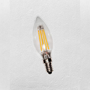 Лампа LED С35, 4W, Е-14 (с сапфировой нитью) 2700К