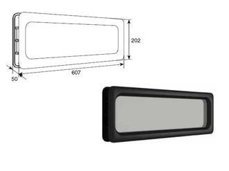 Doorhan DH85602 Окно врезное для ворот, 607х202мм