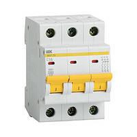 Автоматический выключатель ВА47-29 3P  2A 4,5кА х-ка D ИЭК