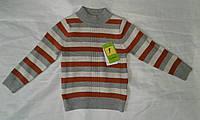 Гольф детский для мальчика 2-6 года,серый с красным